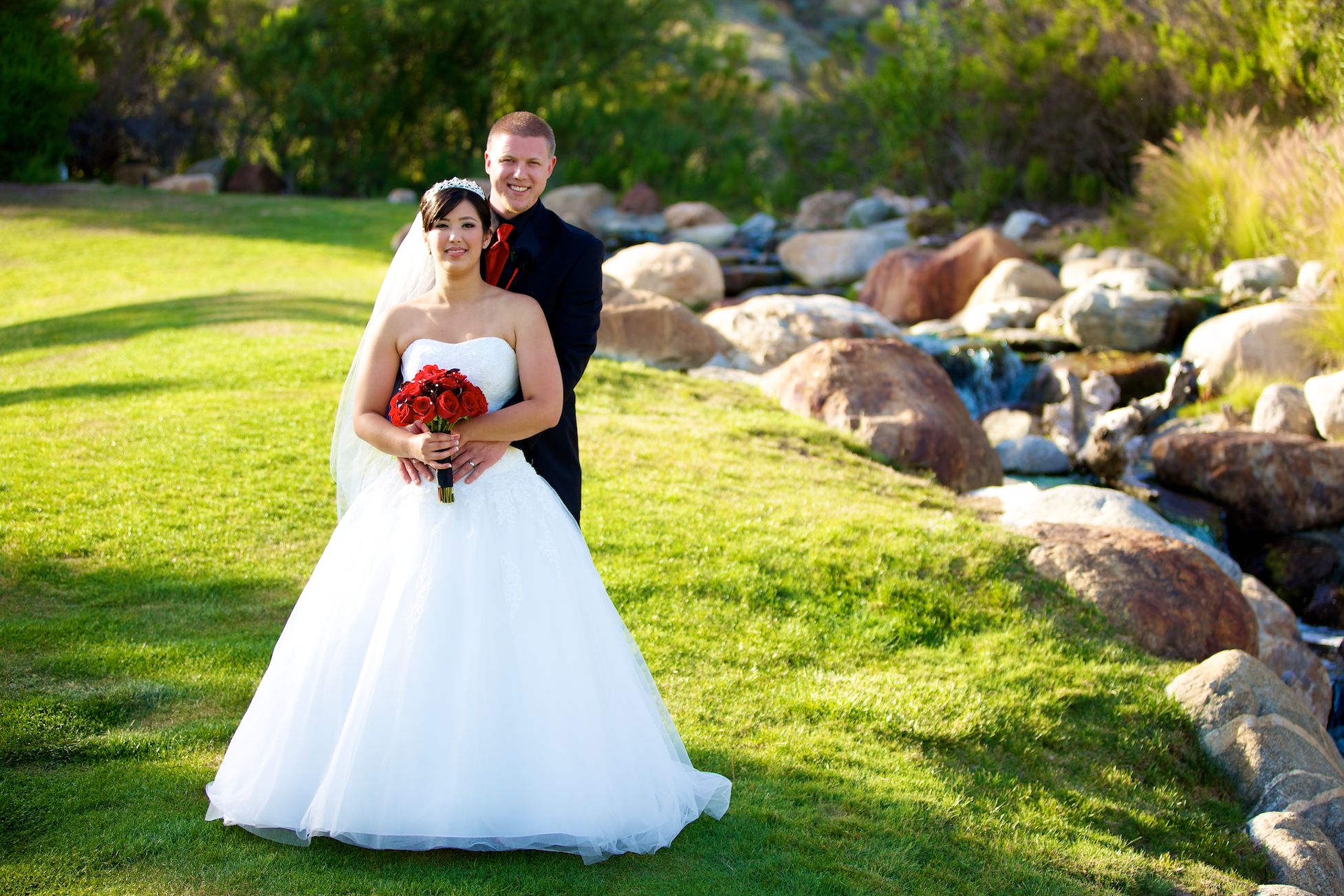 Yorba Linda Wedding on grass