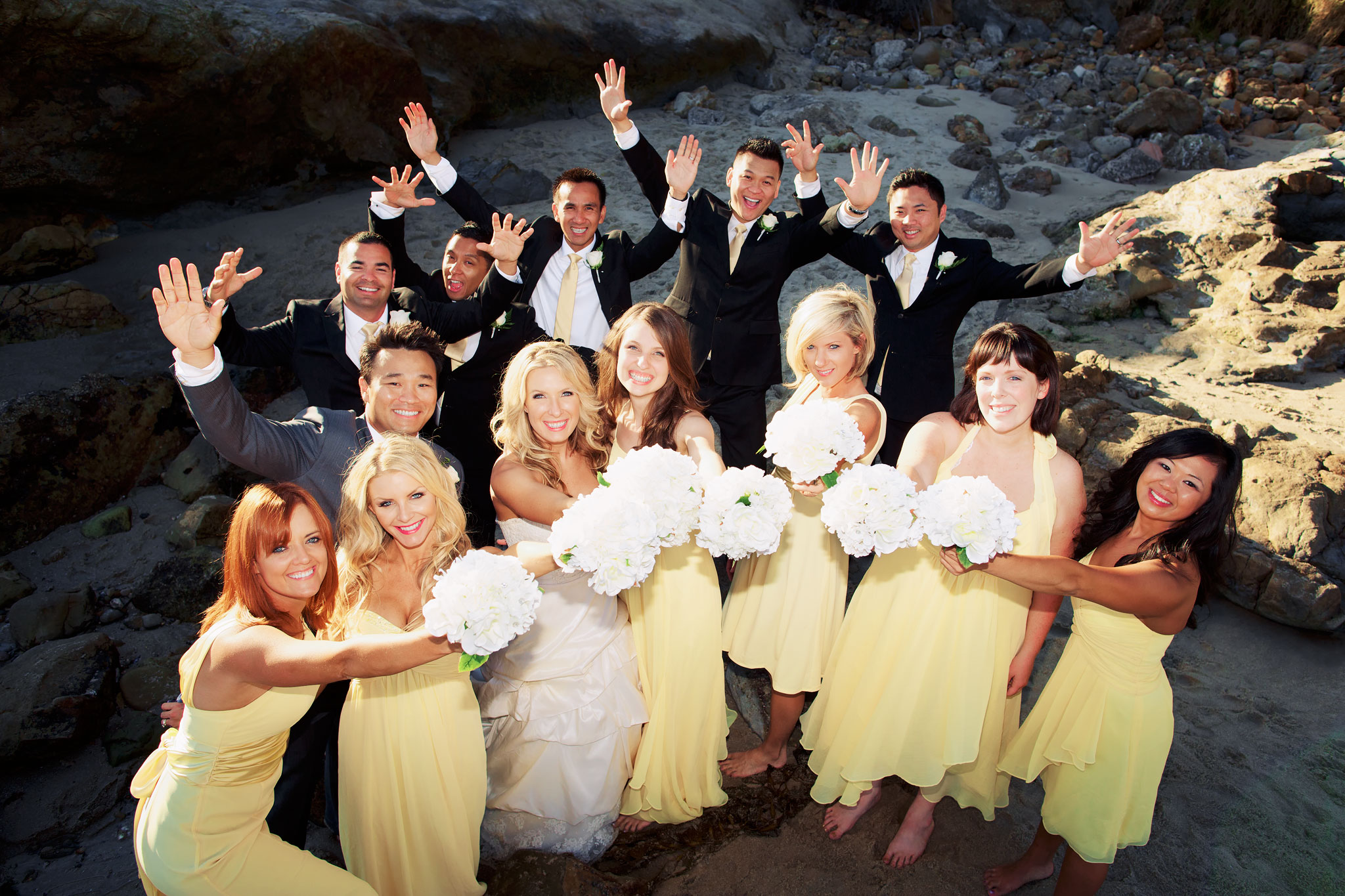 Orange County wedding bridesmaids