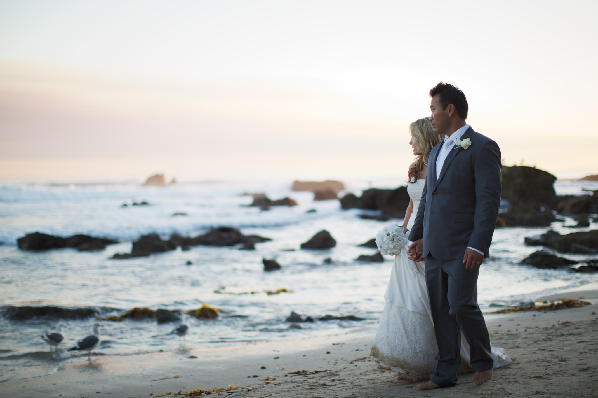 Laguna Beach wedding beach walk